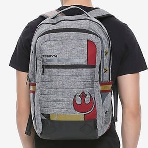 Star Wars grey rebellion backpack from Hot Topic
